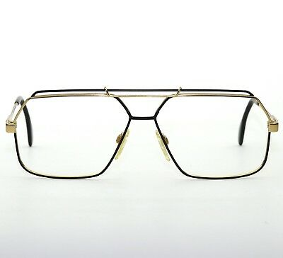 4c83b2121c8 Vintage Cazal Germany Mod 734 Sunglass Eyeglass Excellent Black gold 62-13