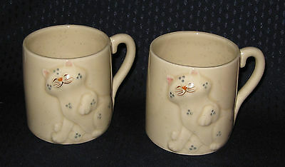Ceramic Cat 3D Mugs Cups with Tail Handle