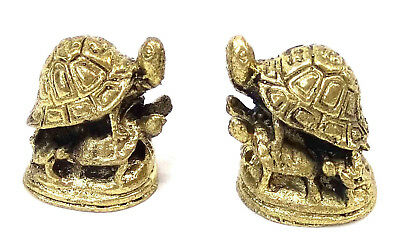2 x Tortise Pile up Miniture Brass figures cast in India