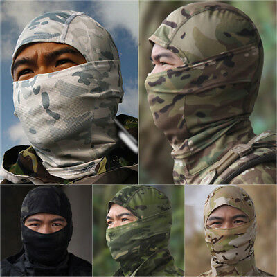 Tactical Balaclava Camouflage Full Face Mask Scarf Men's Hunting Hood Hat Cap