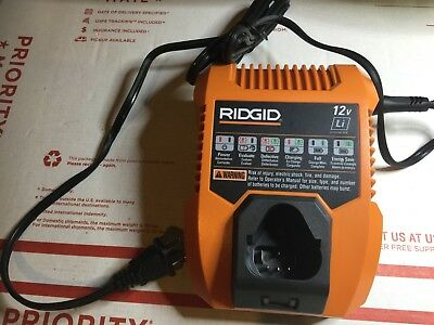 RIDGID R86049 Lithium Ion12V Volt Battery Charger for AC82048 AC82058