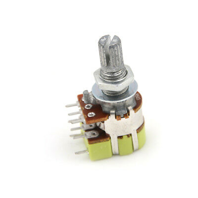 B50K 50K Ohm Dual Linear Taper Volume Control Switches Potentiometer Switch、CS