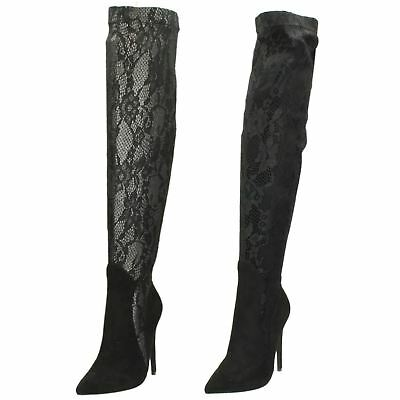Ladies Anne Michelle Over The Knee Lace 'Boots'
