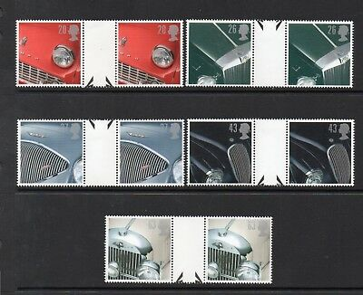 Gb Mnh 1996 Sg1945-1949 Classic Sports Cars Gutter Pairs
