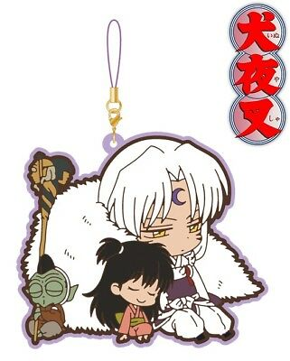 Movic Rumic Collection Inuyasha Pair Rubber Strap Charm Sesshomaru Rin Jaken NEW