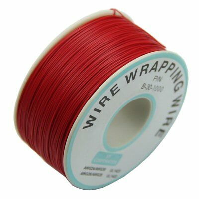 0.25mm Wire-Wrapping Wire 30AWG Cable 305m New (Red) D9O4