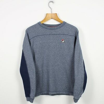 457d40b085 Vintage FILA White Line Grey Blue Sweatshirt Jumper | Retro Italian | Small  S