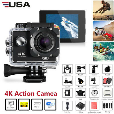 Ultra 4K HD Sports go Action Camera pro Waterproof helmet camera w/ bike Hiking