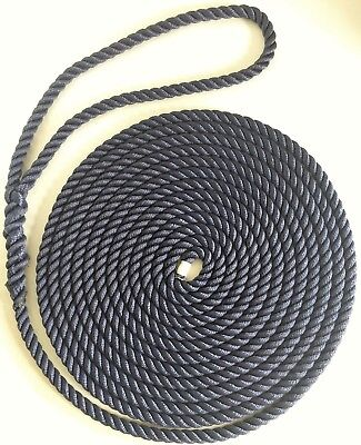 IN PAIRS X 5 METRES 14mm-FLOATING-MOORING-ROPES--EYE-SPLICED-3-STRAND-WHITE