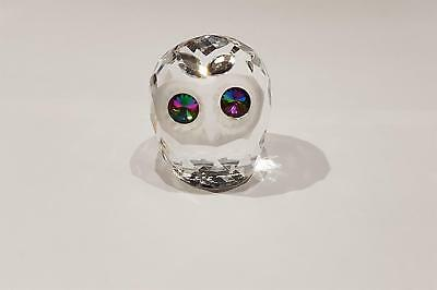 Crystal World Cut Glass Fatty Owl Figurine Glass Animals Sculpture Miniature