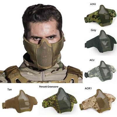 Tactical Airsoft Mask halbe untere Gesichtsmaske Protective Prop für Paintball