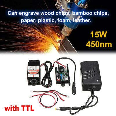 15W Laser Head Engraving Module for Engraver Marking Wood Cut Cutting with TTL