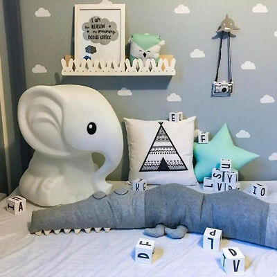 Newborn Crib Bumper Comforting Crocodile Pillow Baby Room Decor Toys Bed Bumpers