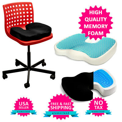 Coccyx Orthopedic Memory Foam Gel Seat Cushion Pillow Car Chair Support Sciatica