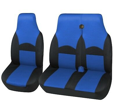 Black / Blue Deluxe Ohio Van Seat Covers 2+1 FOR FORD TRANSIT (00-06) MK6
