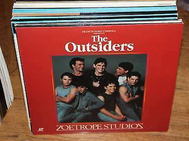 The Outsiders Laserdisc LD NTSC Coppola, Cruise, Lowe, Macchio, Dillon