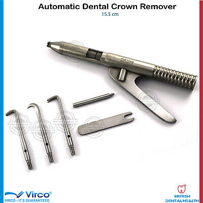 Crown Removal Removing Gun with Accessories, Dental Crowns Remover Instrument CE