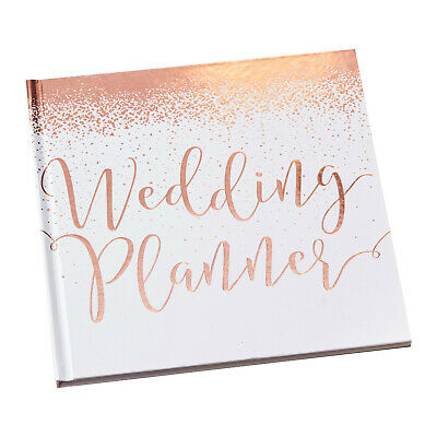 Ginger Ray Rose Gold Wedding Planner Journal Book Engagement Gift - BB-306