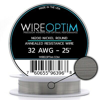 Annealed Ni200 Nickel 32 Gauge AWG 25' NON RESISTANCE Wire