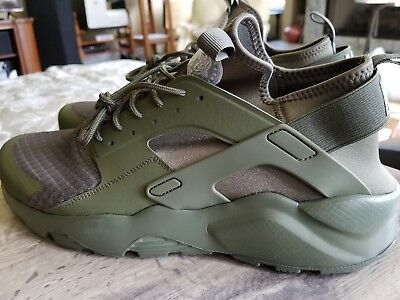 official photos 21bf3 f83cd NIKE AIR HUARACHE RUN ULTRA Size 14 Army Green 819685-204 Mens Running Shoes