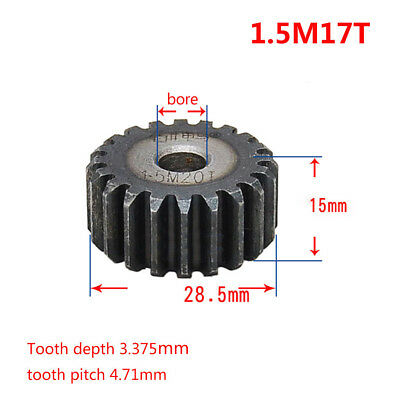 1.5Mod 17T Spur Gear 45# Steel Motor Gear OD 28.5mm Thickness 15mm x 1Pcs