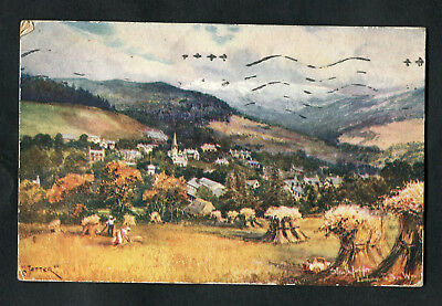 Posted 1917: Oilette Art Card: Strathpeffer Looking to Ben Wyvis