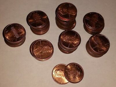 72 x USA 1 CENT COINS 1962 - 1994