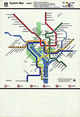 Washington D.C. Subway Map-2000 Serigraph