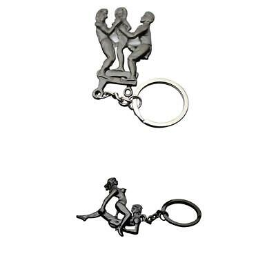 Adult Lover Metal Keychains Pendants Keyring Car Key Ring Chains Funny Toy