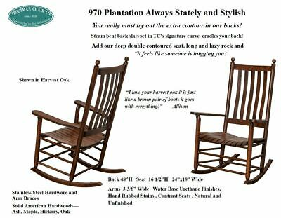 2-Troutman Chair Co. - #970 - Plantation Shaker Rockers with lumbar support