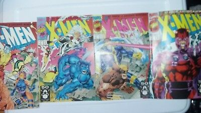X-MEN #1 Vol.2 (1991) SET OF 4 JIM LEE COVERS - MARVEL COMICS -HOT SELLING ITEM
