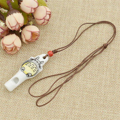 My Neighbor Anime Totoro Necklace Cute Whistle Ceramics Girls Costume Jewelry