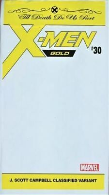 X-Men Gold #30 J Scott Campbell Classified Variant - Polybagged