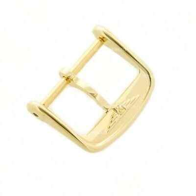 Longines Fibbia ardiglione acciaio PVD Yellow Gold plated steel pin buckle 14 mm