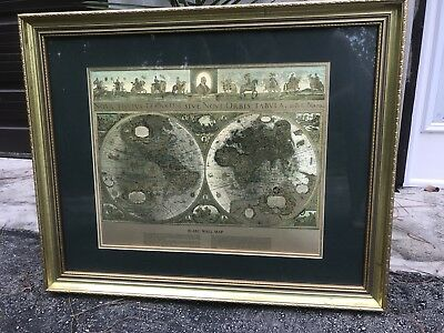 Framed gold foil nova totivs terrarvm old world mapblaeu wall map framed gold foil nova totivs terrarvm old world mapblaeu wall map vintage publicscrutiny Images