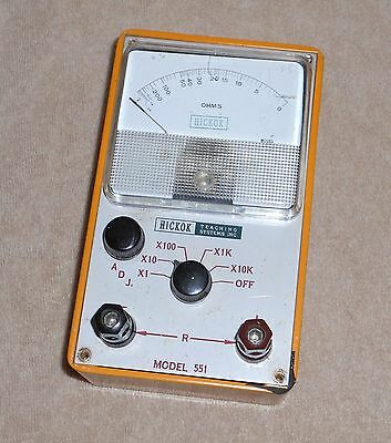 Hickok Teaching Systems Inc Model 551 Resistance Box Ohm Meter