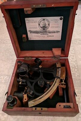 Vintage  H Hughes & Son Sexton With Wooden Box