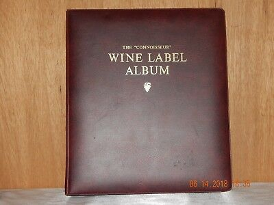 The Connoisseur 3-Ring WINE LABEL ALBUM Unused over 80 Pages Writewell