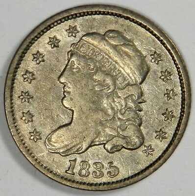 1835 Bust Half Dime ~ Nice Vf Small Date Large 5 ~ Priced Right!