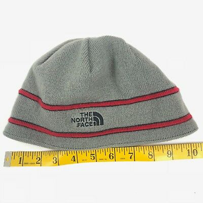 66083e77033 THE NORTH FACE Gray - Red Striped Beanie - Boys - One Size -  15.99 ...