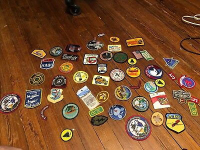 Lot of 53 Vintage Patches some Boy Scouts / mixed