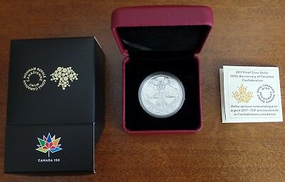 2017 Canada Proof Silver Dollar 150th Anniversary of Canadian Confederation