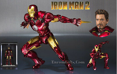 Bandai Iron Man Mk IV Mark 4 & Hall of Armor Action Figure S.H. Figuarts Set
