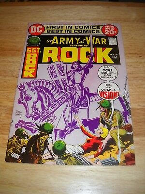 Our Army At War # 247 1972 Dc War Comic  Sgt. Rock Vg/fn Condition 5.0