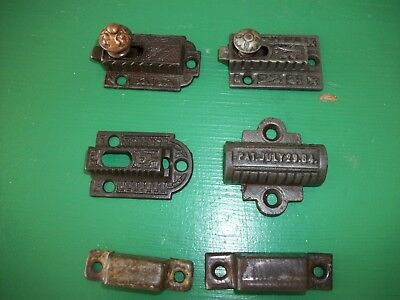 Antique Eastlake Cupboard Latch Lot Incomplete Parts Catches, Latches Odd Piece