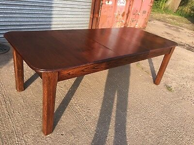 Large Long Rectangular Fixed Mahogany Dining Table Solid Wood Single Top Huge