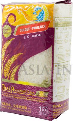 Jasmin Long Grain Fragrant Rice, Thailand, Golden Phoenix 1 kg