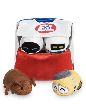 Disney Pixar Wall E Walle 10th Anniversary Tsum Tsum Mini Set Bag NWT