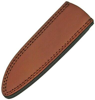 "Brown Leather Belt Pouch Sheath For Straight Fixed Knife To 10.5"" PA660610"