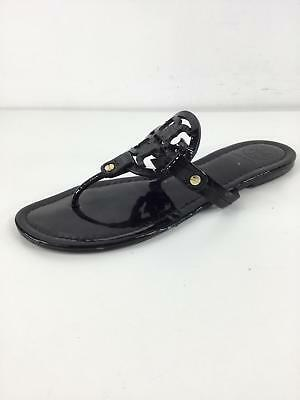 a37264b00b06 B34 Tory Burch Miller Black Patent Leather Thong Sandals Women Size 8 M